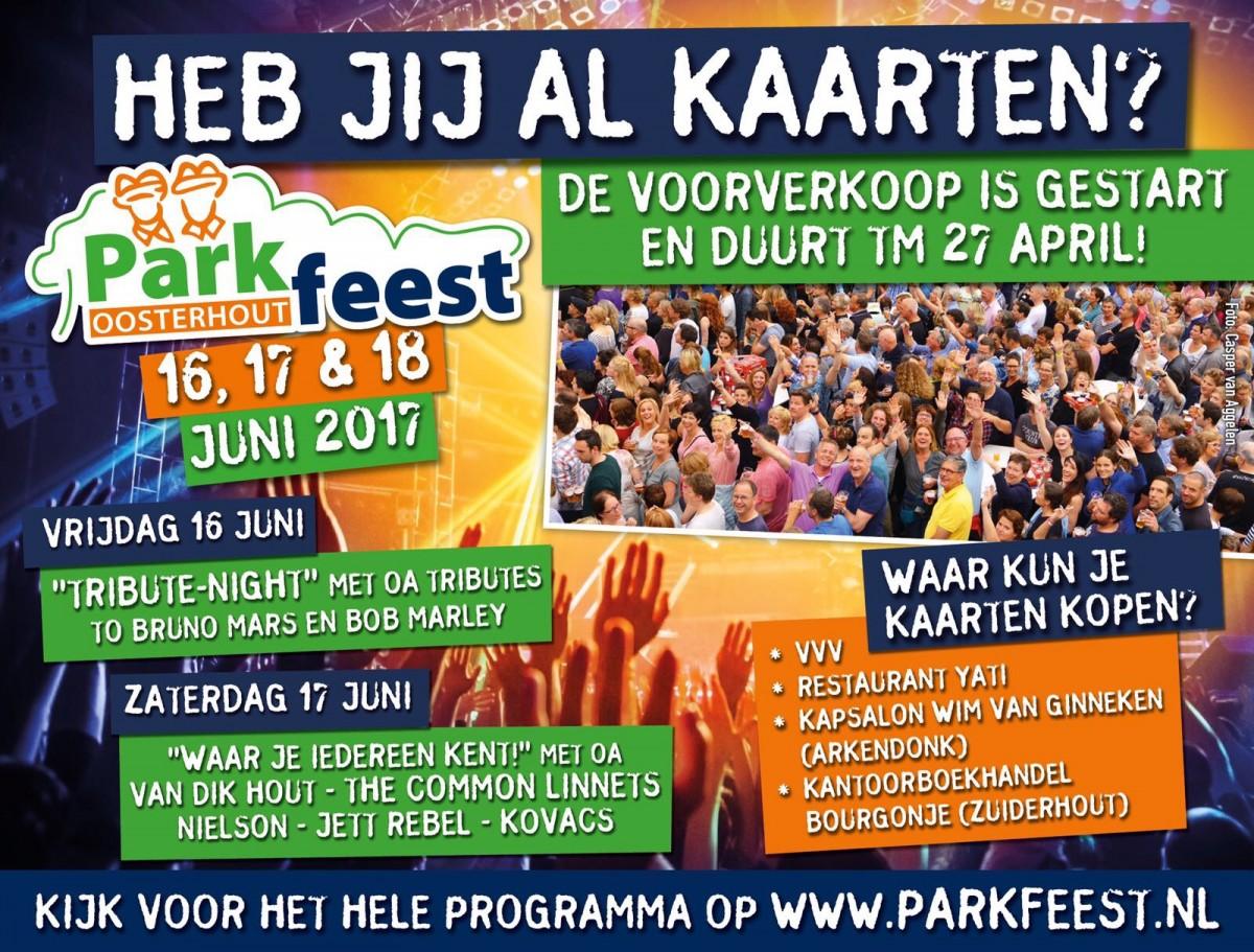 Heb jij al kaarten voor het Parkfeest?
